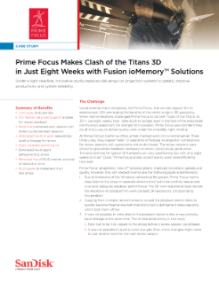 Prime Focus Makes Clash of the Titans 3D in Just Eight Weeks with Fusion ioMemory Solutions