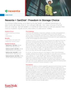 Nexenta + SanDisk<sup>®</sup> : Freedom in Storage Choice