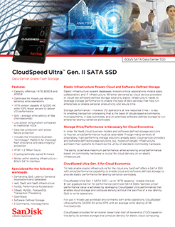 CloudSpeed Gen. II SATA SSDs – Datenblatt