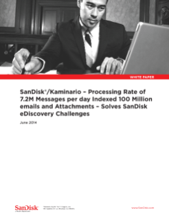 SanDisk<sup>®</sup> +Kaminario Solves SanDisk e-Discovery Challenges