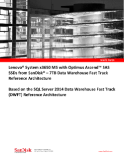 Lenovo System x3650 M5 with Optimus Ascend - 7TB DWFT Reference Architecture
